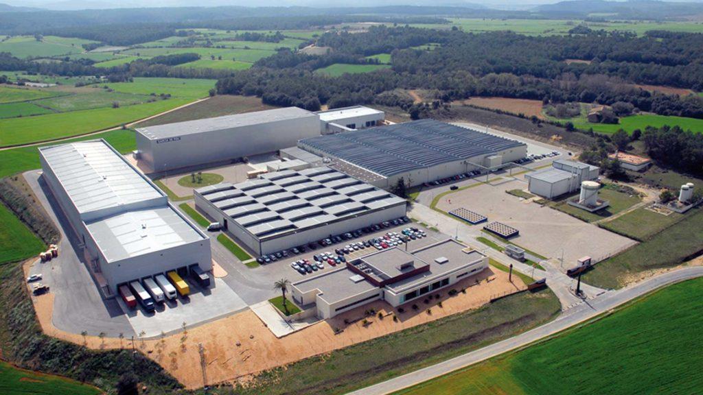 Vista aérea de la ubicación de las instalaciones (antes de la ampliación)