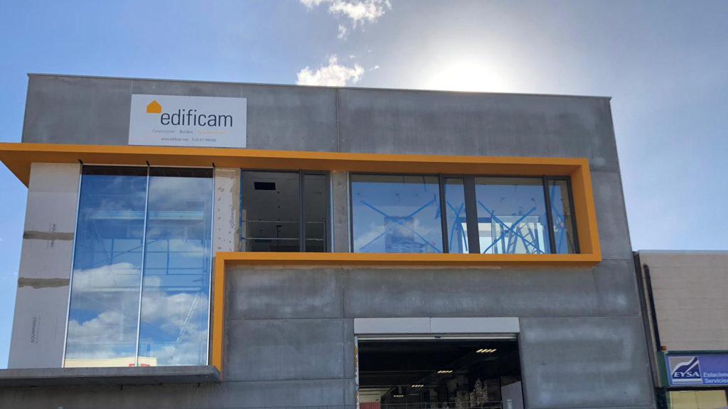 Construcción de la nueva nave de Edificam en Mallorca
