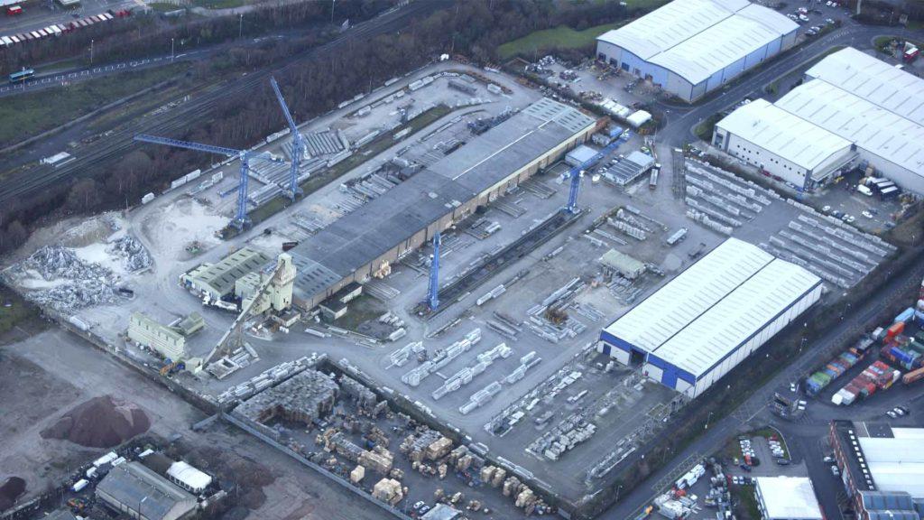 Vista aérea de la fábrica de Leeds