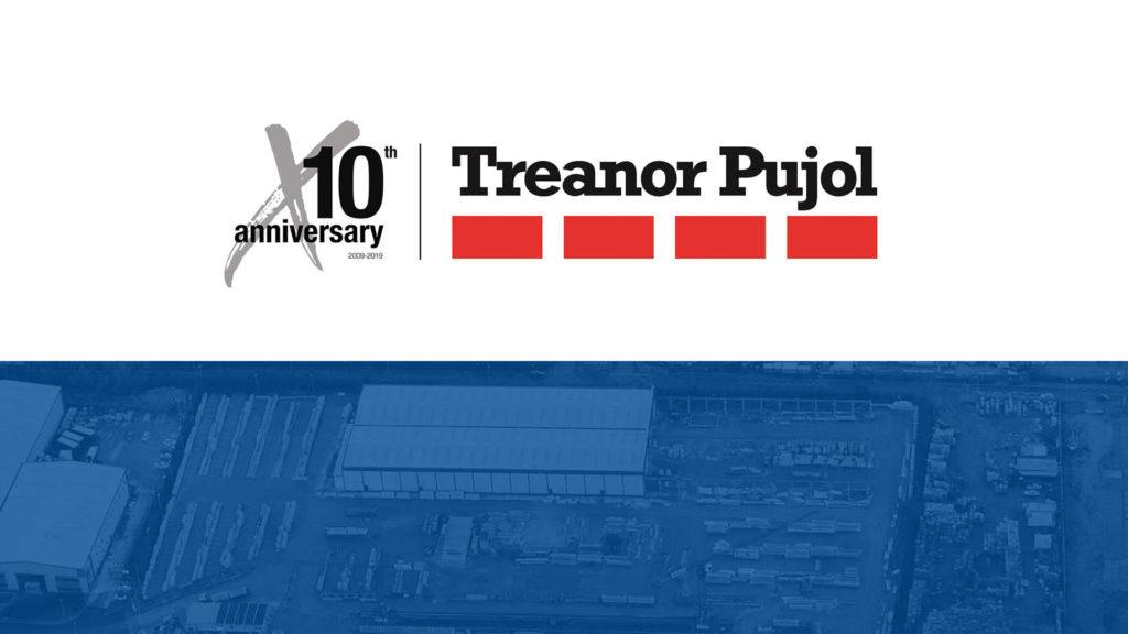 Logotipo del 10 aniversario de Treanor Pujol