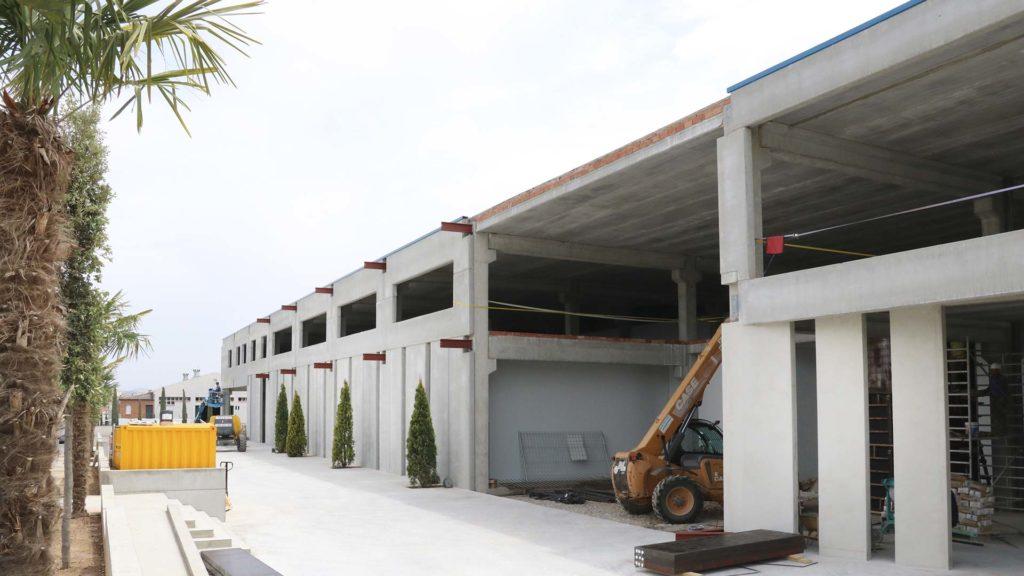 Construcción de la nueva nave de oficinas de Vicens