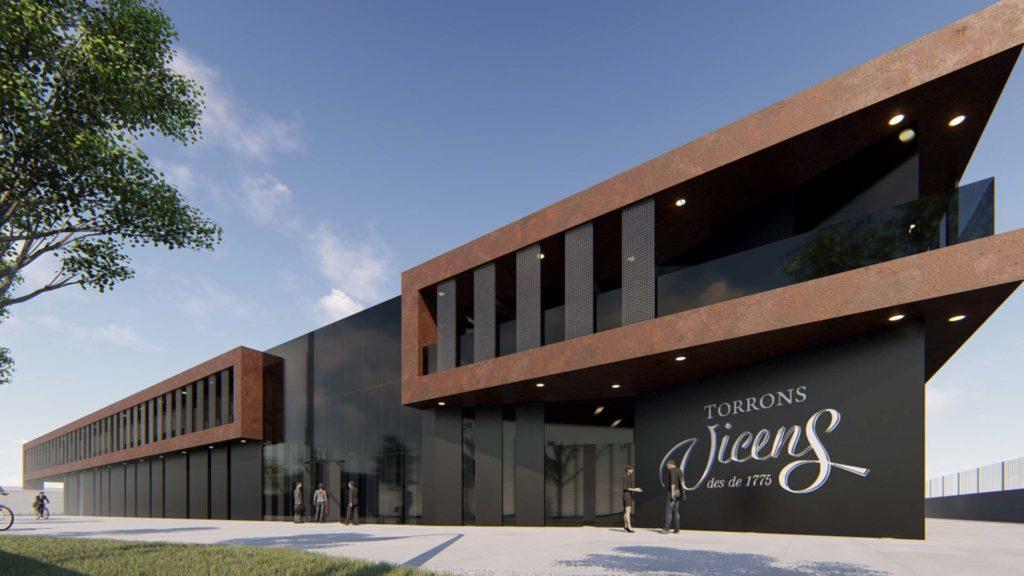 Render de la nueva nave de oficinas de Vicens