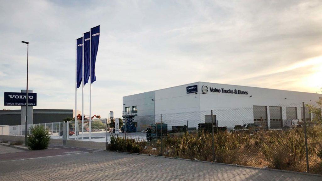 Panorámica de la nave industrial de Volvo