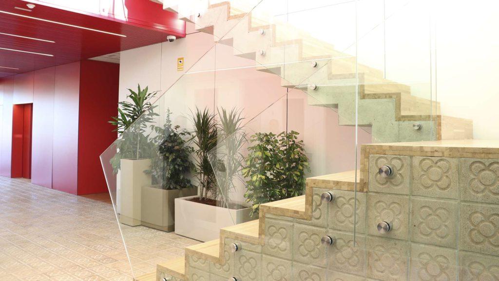 Detalle del panot utilizado en la escalera