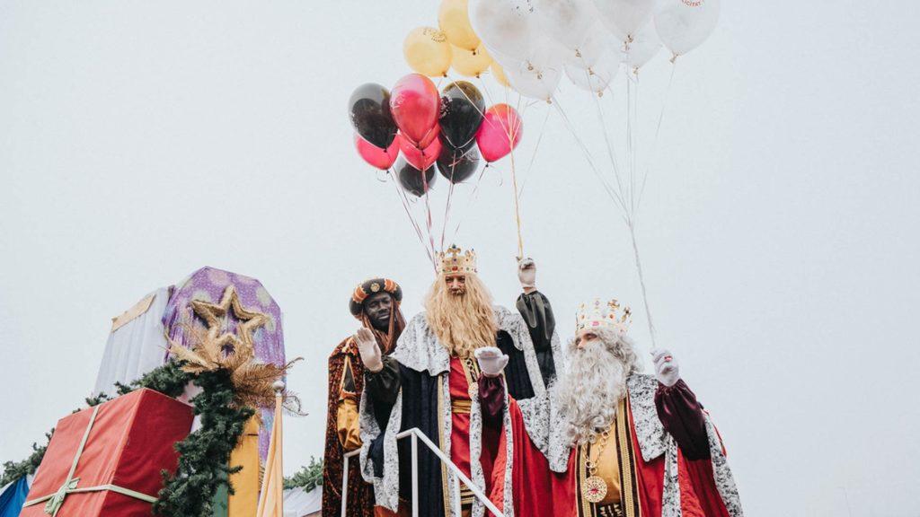 Els Reis arribant a Pujol