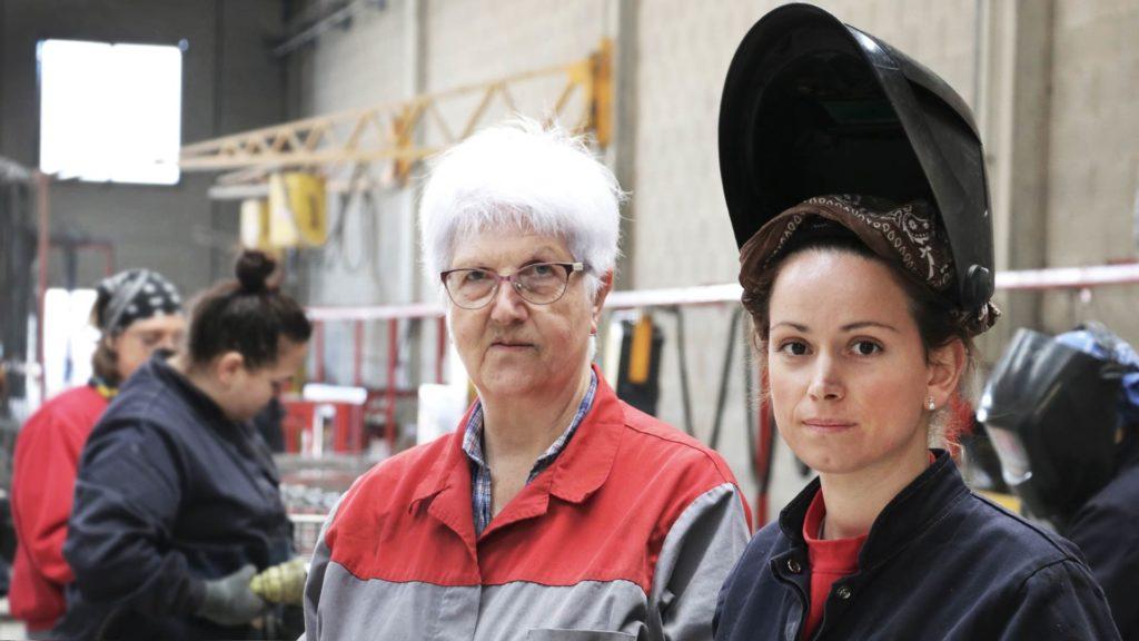 Trabajadoras de la fábrica Ferrofet de Pujol