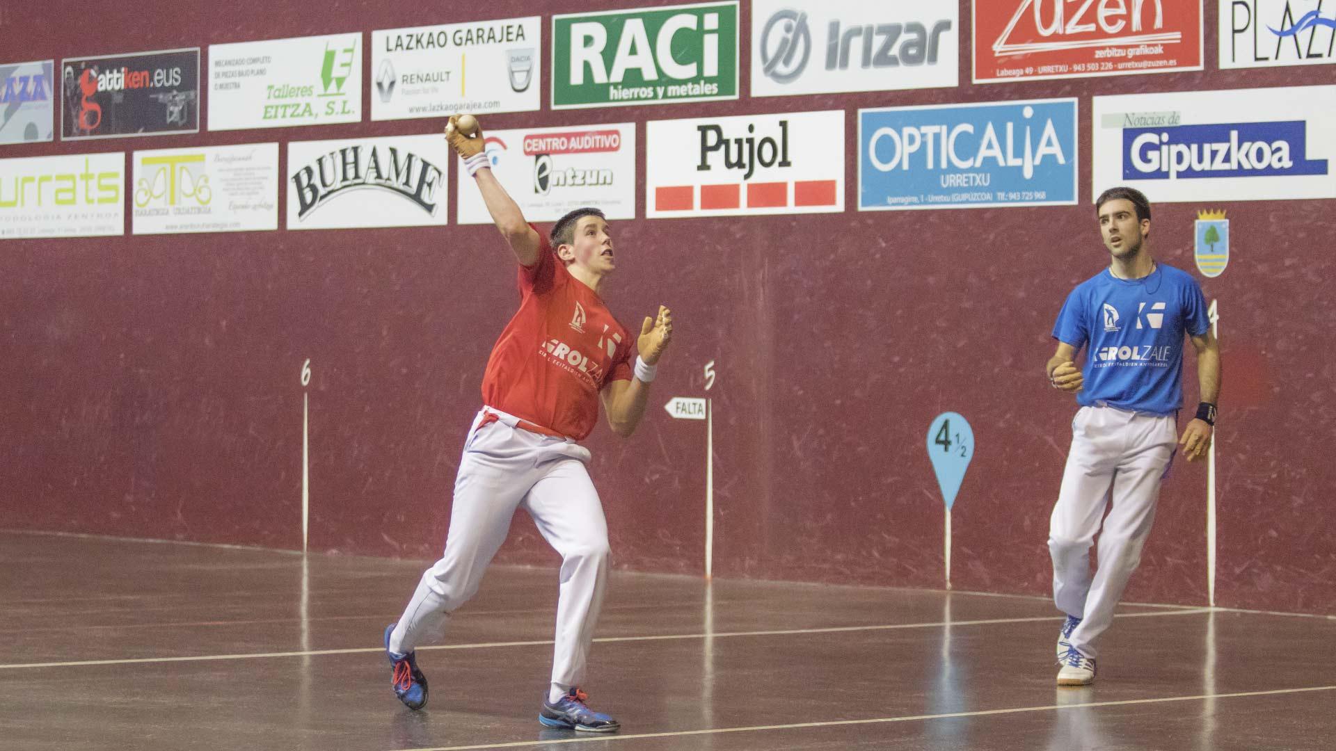 Pujol, presente en los campeonatos de pelota vasca