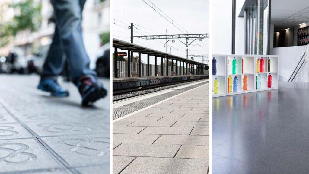 Imatges de diferents projectes de terratzo i paviment