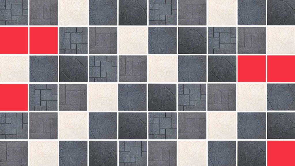 Mosaico con los diferentes modelos de terrazo exterior de la línea Arte