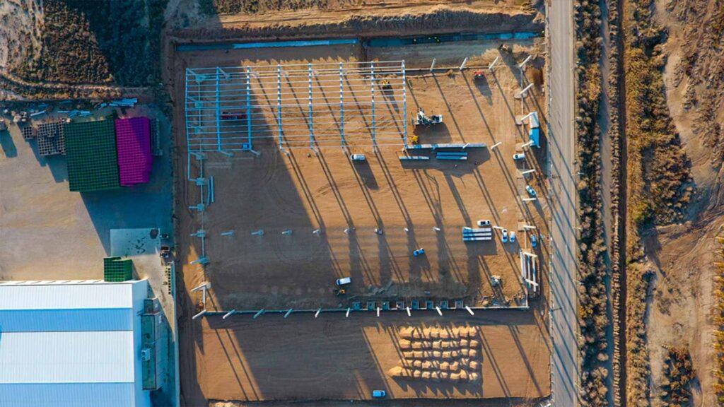 Construcción de la nave industrial de Box Jové. Obra realizada por Paobal